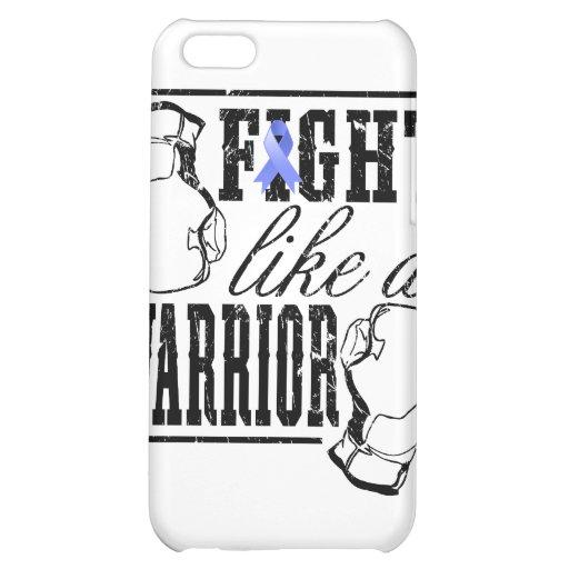Lucha del cáncer de estómago como un guerrero