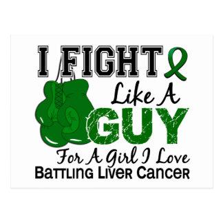 Lucha del cáncer de hígado como un individuo 15 tarjetas postales