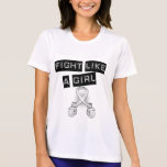 Lucha del cáncer de hueso como un chica camiseta
