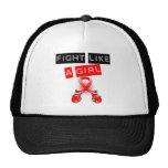 Lucha del cáncer de la enfermedad cardíaca como un gorra