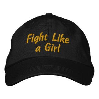 Lucha del cáncer de la niñez como un chica gorras bordadas