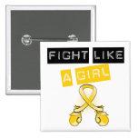 Lucha del cáncer de la niñez como un chica pin