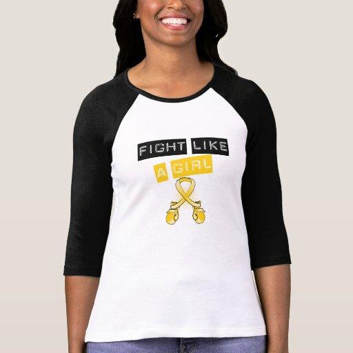 Lucha del cáncer de la niñez como un chica camisetas