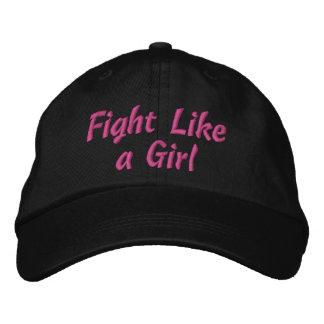 Lucha del cáncer de pecho como un chica gorra bordada