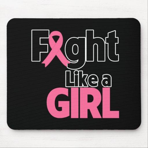 Lucha del cáncer de pecho como un chica tapetes de ratones