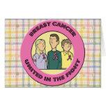 Lucha del cáncer de pecho felicitación