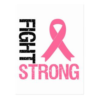Lucha del cáncer de pecho fuerte postales