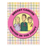 Lucha del cáncer de pecho postal