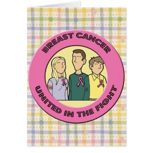 Lucha del cáncer de pecho tarjeta