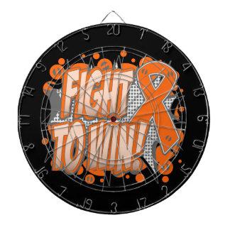 Lucha del cáncer de piel a ganar tabla dardos