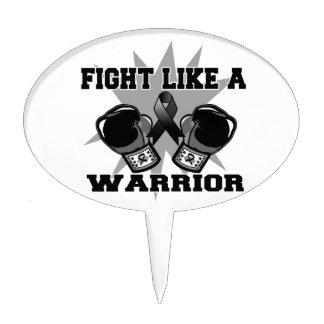 Lucha del cáncer de piel como un guerrero palillos de tarta