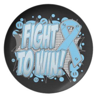 Lucha del cáncer de próstata a ganar platos para fiestas