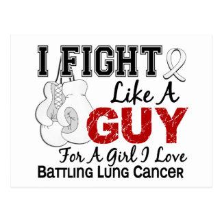 Lucha del cáncer de pulmón como un individuo 15 postal