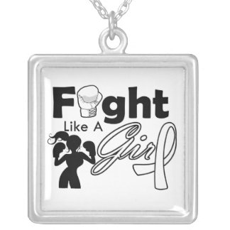 Lucha del cáncer de Retinoblastoma como una siluet Collar