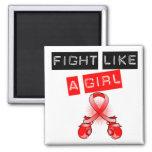 Lucha del cáncer de sangre como un chica imán
