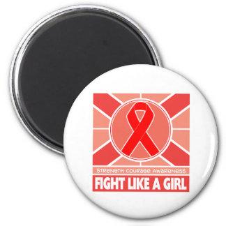 Lucha del cáncer de sangre como una bandera del ch iman de frigorífico