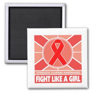 Lucha del cáncer de sangre como una bandera del ch iman para frigorífico