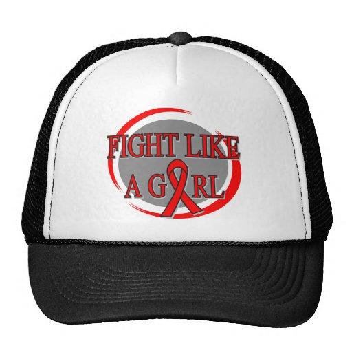 Lucha del cáncer de sangre como una circular del c gorro