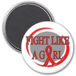 Lucha del cáncer de sangre como una circular del c imanes de nevera