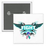 Lucha del cáncer de tiroides como un chica Wings.p Pin