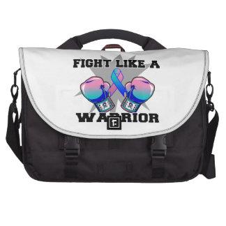 Lucha del cáncer de tiroides como un guerrero bolsa de ordenador