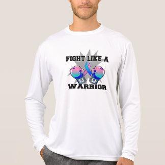 Lucha del cáncer de tiroides como un guerrero camisetas