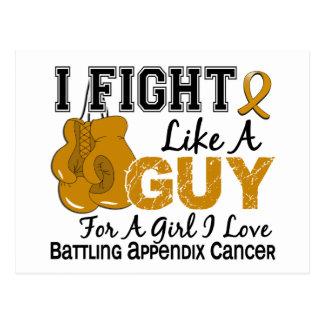 Lucha del cáncer del apéndice como un individuo 15 tarjetas postales
