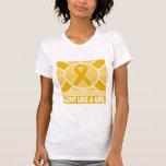 Lucha del cáncer del apéndice como una bandera del camisetas