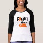 Lucha del cáncer del riñón como un chica 2 camisetas