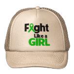 Lucha del cáncer del riñón como un chica gorra