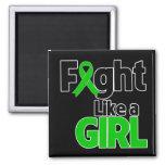 Lucha del cáncer del riñón como un chica iman de nevera
