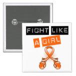 Lucha del cáncer del riñón como un chica pin