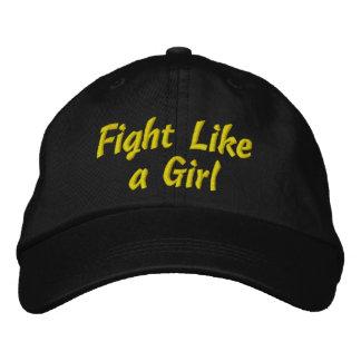 Lucha del cáncer del sarcoma como un chica gorra bordada