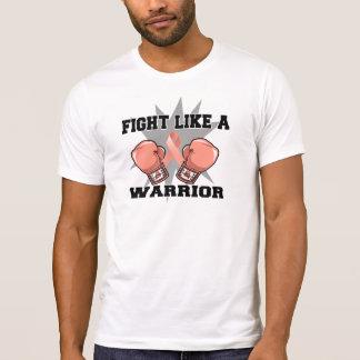 Lucha del cáncer endometrial como un guerrero camisetas