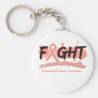 LUCHA del cáncer endometrial que apoya mi causa Llavero
