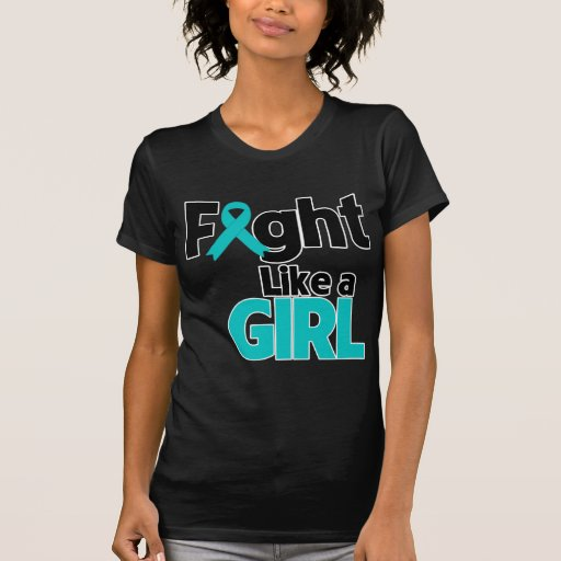 Lucha del cáncer ovárico como un chica camisetas