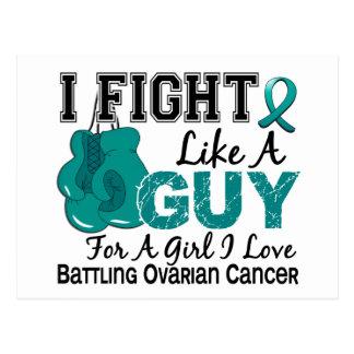 Lucha del cáncer ovárico como un individuo 15 postal