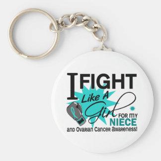 Lucha del cáncer ovárico como una sobrina 11 del c llavero personalizado