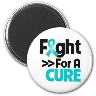 Lucha del cáncer ovárico para una curación imán redondo 5 cm