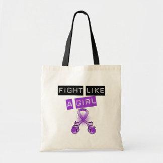 Lucha del cáncer pancreático como un chica bolsas