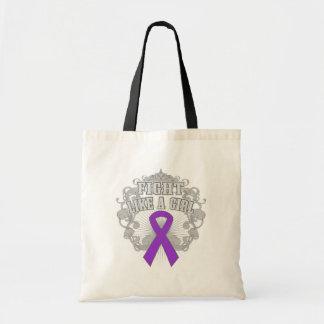 Lucha del cáncer pancreático como un chica Fleuris Bolsa
