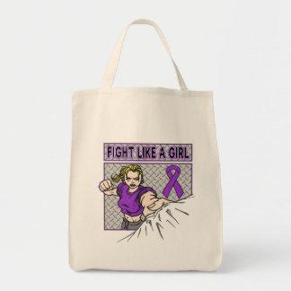 Lucha del cáncer pancreático como un sacador del bolsas lienzo