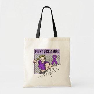 Lucha del cáncer pancreático como un sacador del c bolsa de mano