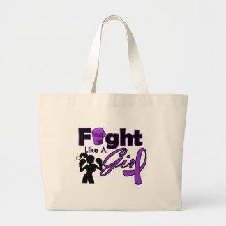 Lucha del cáncer pancreático como una silueta del  bolsas lienzo