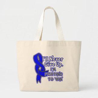 Lucha del cáncer rectal a ganar bolsa tela grande