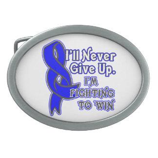 Lucha del cáncer rectal a ganar hebillas cinturón ovales