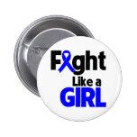 Lucha del cáncer rectal como un chica pins