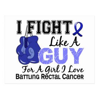 Lucha del cáncer rectal como un individuo 15 postal
