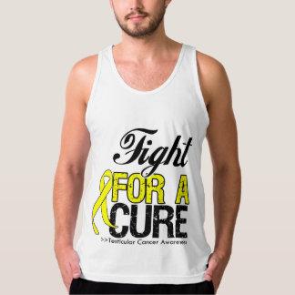 Lucha del cáncer testicular para una curación playeras con tirantes