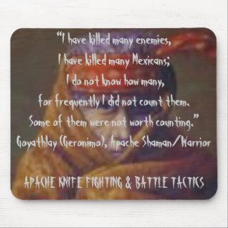 Lucha del cuchillo de Apache y táctica de la batal Tapetes De Ratones